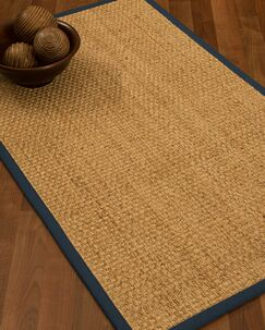 Caster Border Hand-Woven Beige/Marine Area Rug Rug Pad Included: No, Rug Size: Rectangle 3' x 5'