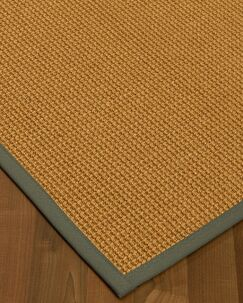 Aula Border Hand-Woven Brown/Stone Area Rug Rug Size: Rectangle 5' x 8', Rug Pad Included: Yes