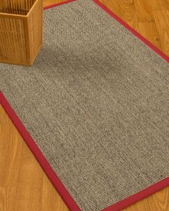 Mahan Border Hand-Woven Gray/Red Area Rug Rug Size: Rectangle 12' x 15', Rug Pad Included: Yes