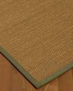 Chavis Border Hand-Woven Beige/Fossil Area Rug Rug Size: Rectangle 5' x 8', Rug Pad Included: Yes