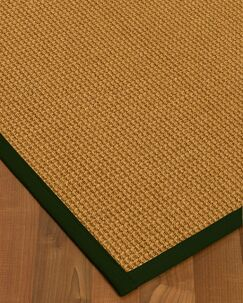 Aula Border Hand-Woven Brown/Moss Area Rug Rug Size: Rectangle 8' x 10', Rug Pad Included: Yes