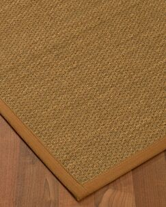 Kenny Border Hand-Woven Brown Area Rug Rug Size: Rectangle 4' x 6', Rug Pad Included: Yes
