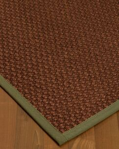 Kerrick Border Hand-Woven Brown/Green Area Rug Rug Pad Included: No, Rug Size: Rectangle 3' x 5'