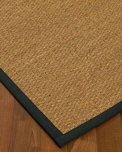 Anya Border Hand-Woven Beige/Onyx Area Rug Rug Size: Rectangle 9' x 12', Rug Pad Included: Yes