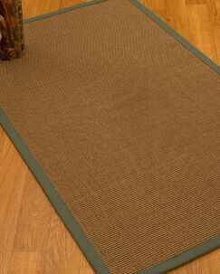 Huntwood Border Hand-Woven Brown/Slate Area Rug Rug Size: Rectangle 4' x 6', Rug Pad Included: Yes