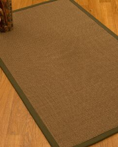 Huntwood Border Hand-Woven Brown/Malt Area Rug Rug Size: Rectangle 12' x 15', Rug Pad Included: Yes