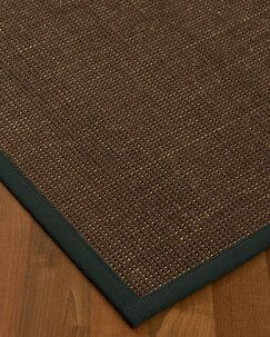 Kersh Boa Rugrder Hand-Woven Brown/Onyx Area Rug Size: Rectangle 9' x 12', Rug Pad Included: Yes