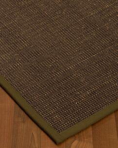 Kersh Border Hand-Woven Brown/Malt Area Rug Rug Size: Rectangle 8' x 10', Rug Pad Included: Yes