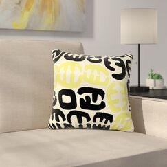 Oliver by Theresa Giolzetti Outdoor Throw Pillow Color: Yellow