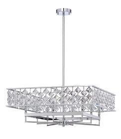 Hoehne 8-Light Crystal Chandelier Size: 10.9