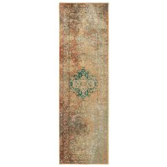 Hedberg Brown/Green Area Rug Rug Size: Rectangle 6'7