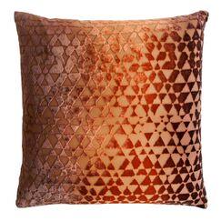 Triangles Velvet Throw Pillow Color: Golden Brown, Size: 22