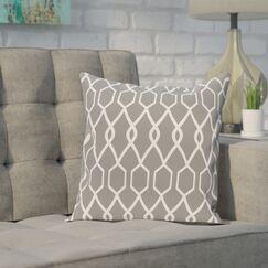 Bronstein Geometric Print Throw Pillow Size: 16