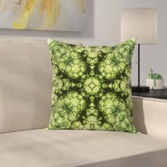 Abstract Retro Fashion Square Pillow Cover Size: 16