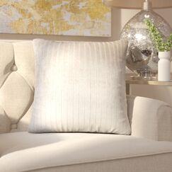 Brecken Striped Throw Pillow Color: Driftwood