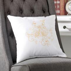 Auserine Five Little Birds Floral Print Throw Pillow Size: 20