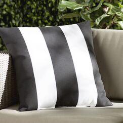 Chardae Pillow-Black & White Vertical Stripe Size: 18