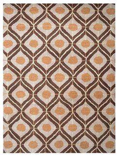 Freida Geometric Hand-Tufted Wool Beige/Brown Area Rug Rug Size: Rectangle 3' x 5'