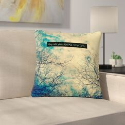 Robin Dickinson May All Your Dreams Come True Nature Outdoor Throw Pillow Size: 16