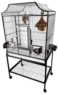 Elegant Flight Cage with Food Access Door Color: Platinum