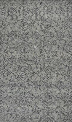 Gilleland Hand-Tufted Wool Gray Area Rug Rug Size: Rectangle 8'6