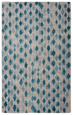 Victorine Pendant Contemporary Modern Blue/Ivory Area Rug Rug Size: Rectangle 5' x 7'