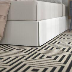 Asha 1500 Super Soft Wrinkle Resistant 100% Brushed Microfiber Bed Skirt Size: King, Color: White