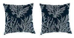 Clairlea Accessory Toss Indoor/Outdoor Throw Pillow Color: Navy, Size: 18
