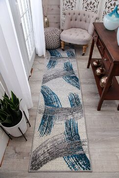Melendy Wool Blue Indoor/Outdoor Area Rug Rug Size: Runner 2' x 8'