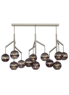 Demelza 12-Light Novelty Chandelier Finish: Satin Nickel, Shade Color: Transparent Smoke