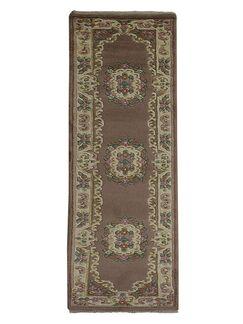 Selma Persian Hand-Woven Wool Brown Area Rug Rug Size: Runner2'6