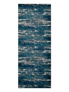 Costales Silver/Blue Area Rug Rug Size: Runner3'2