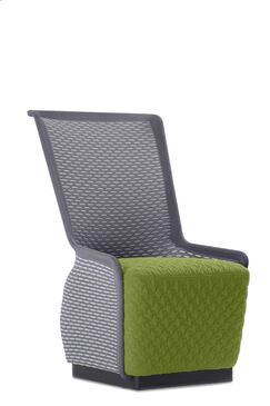 Guyette Mesh Lounge Chair Seat Color: Green