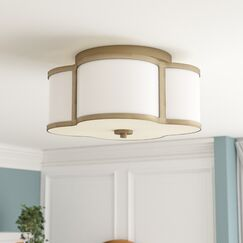 Chitwood 3-Light Flush Mount Finish: Natural Brass