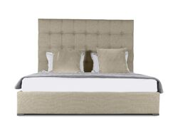 Handley Upholstered Platform Bed Size: Mid Height Queen, Color: Sand