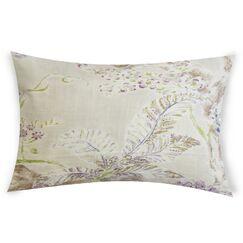 Eppinger Linen Lumbar Pillow Color: Pink