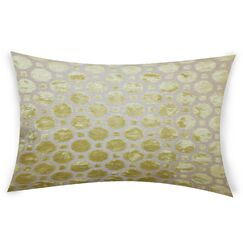 Ogata Velvet Lumbar Pillow Color: Yellow