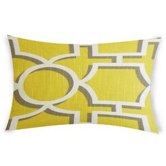 Espitia Cotton Lumbar Pillow Color: Yellow
