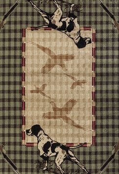 Pippen Hunter's Lookout Green/Beige Area Rug Rug Size: Rectangle 7'10