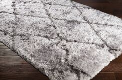 Cianciolo Trellis Hand-Tufted Gray/Charcoal Area Rug Rug Size: Rectangle 5' x 7'6