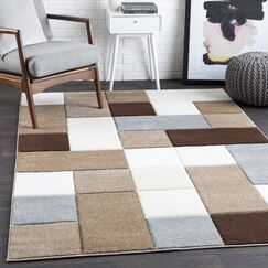 Mott Street Geometric Brown/Camel Area Rug Rug Size: Rectangle 7'10