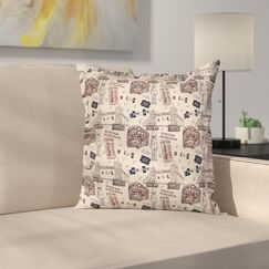 Modern Decor City UK Landmarks Cushion Pillow Cover Size: 16