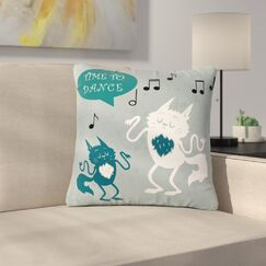 Anya Volk Time To Dance Outdoor Throw Pillow Size: 16