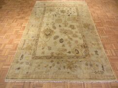 One-of-a-Kind Josephson Oushak Hand-Knotted Brown Area Rug