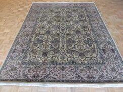 One-of-a-Kind Railey Hand-Knotted Wool Beige Area Rug