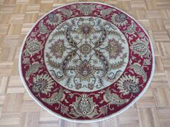 One-of-a-Kind Railey Hand-Knotted Wool Ivory/Red Area Rug