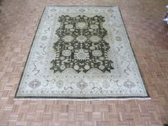 One-of-a-Kind Josephson Oushak Hand-Knotted Wool Brown Area Rug