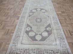 One-of-a-Kind Rhyne Peshawar Oushak Hand-Knotted Wool Brown Area Rug Rug Size: Runner 3'3
