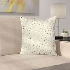 Colorful Droplet Pattern Square Pillow Cover Size: 20