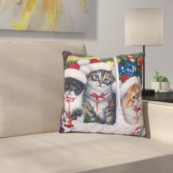 Cats in Window Throw Pillow